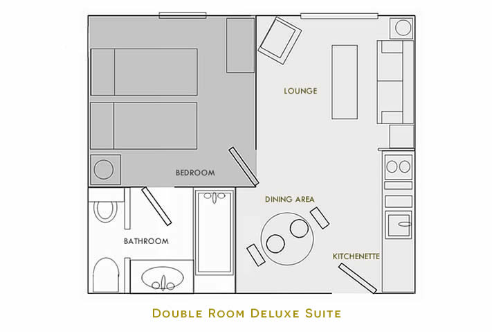 Double Room Deluxe Suite Floorplan