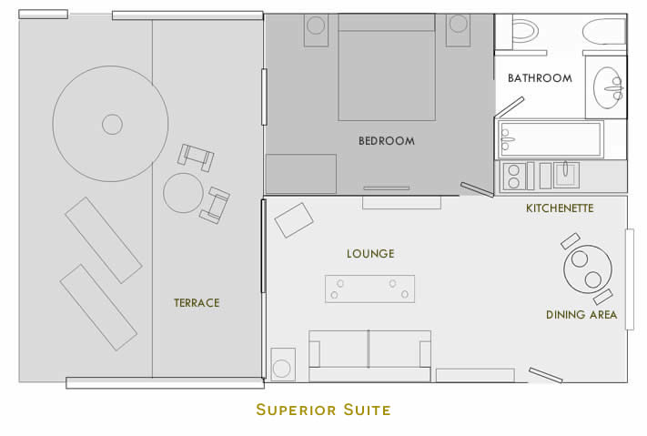 Hotel Migjorn Floorplan Superior Suite